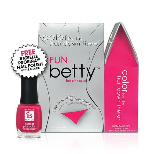 Betty Beauty Fun (Hot Pink) Betty Color Kit w/Free Prosina Nail Polish