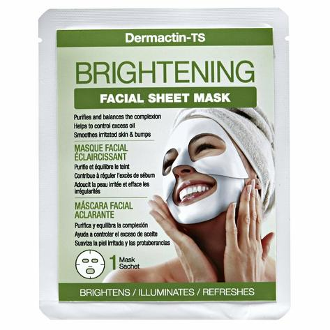 Dermactin-TS Brightening Facial Sheet Mask- Controls Excess Oil