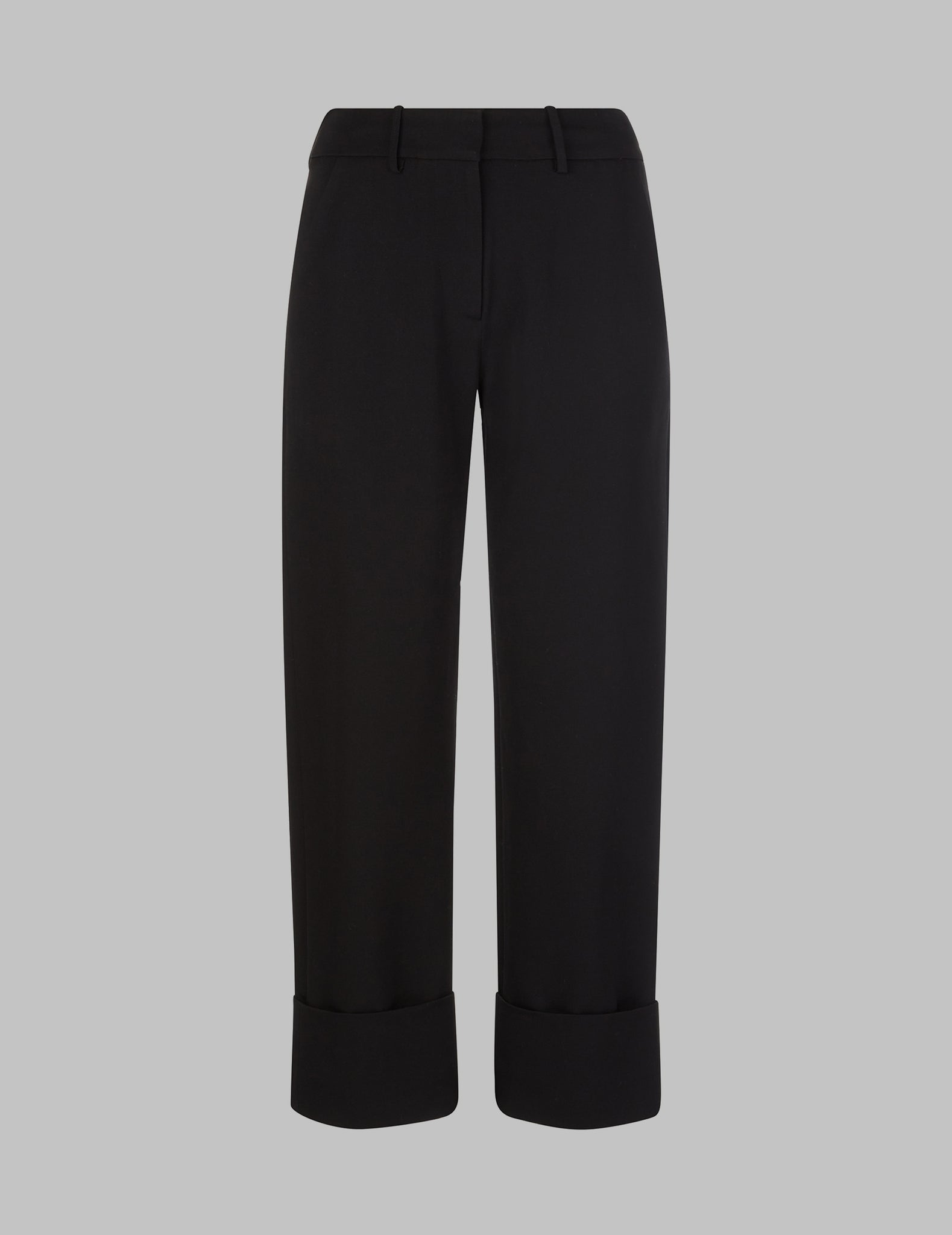 Straight Leg Trousers with Cuffs