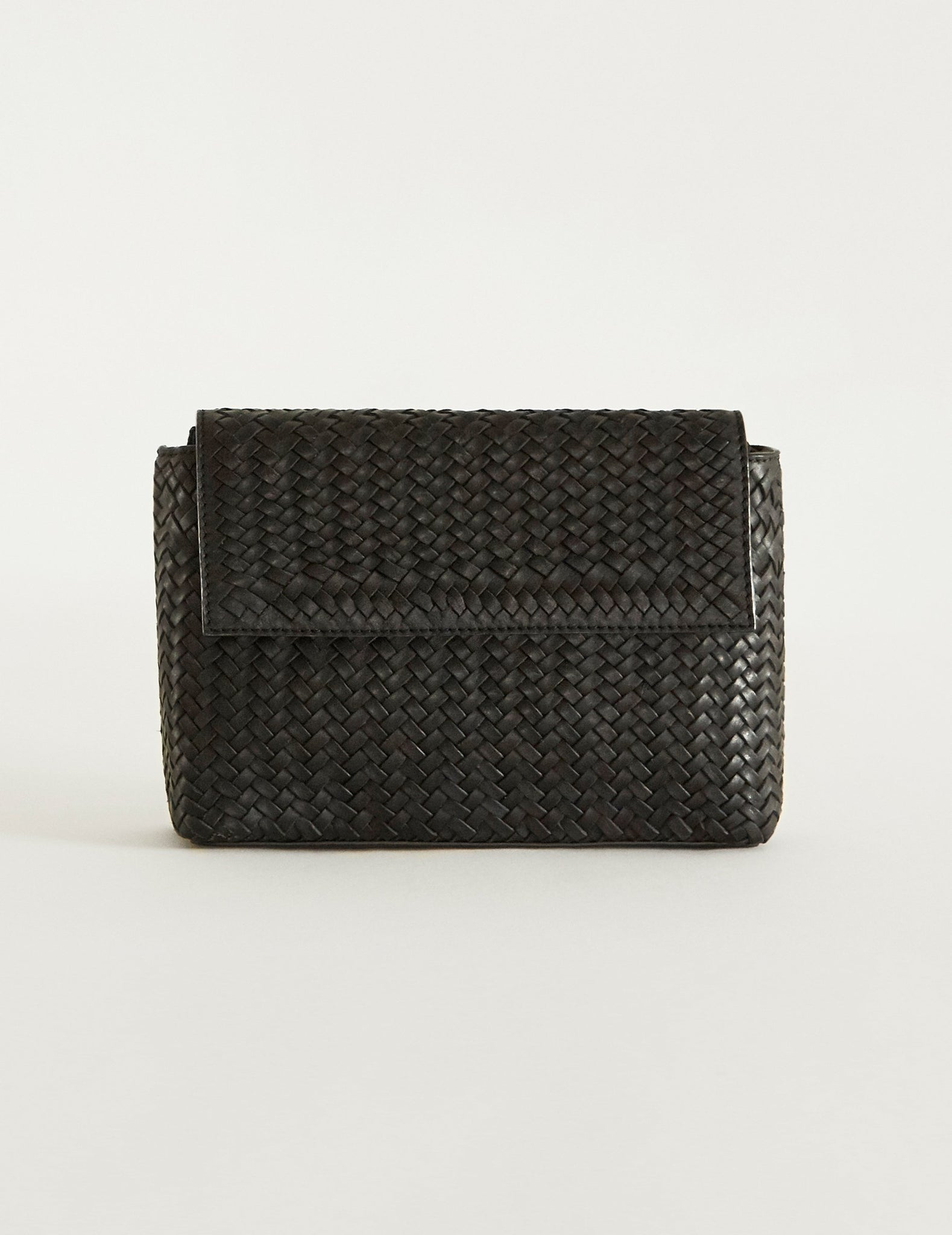 Woven Leather Tokri Cross Body