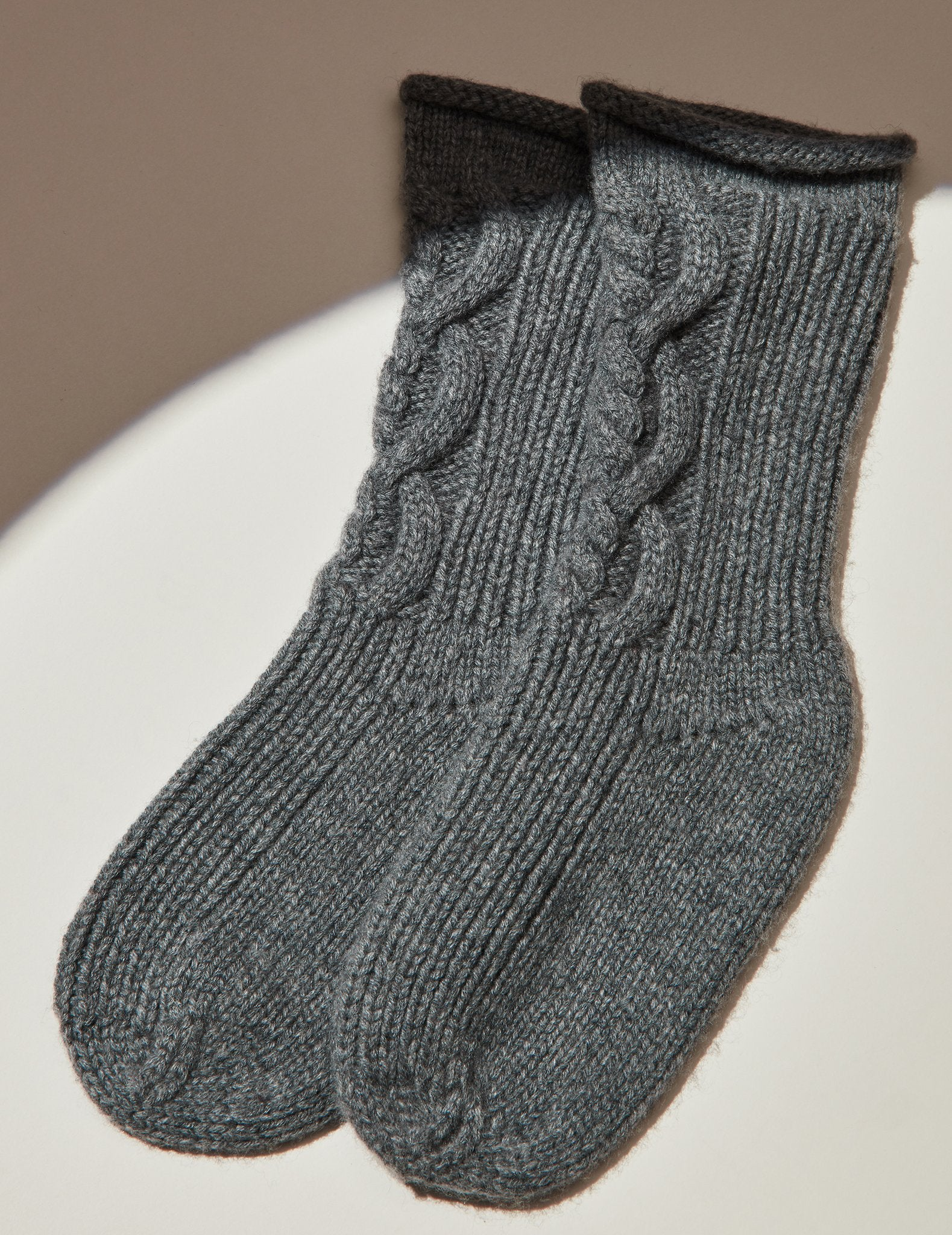 Derby Cashmere Cable Socks