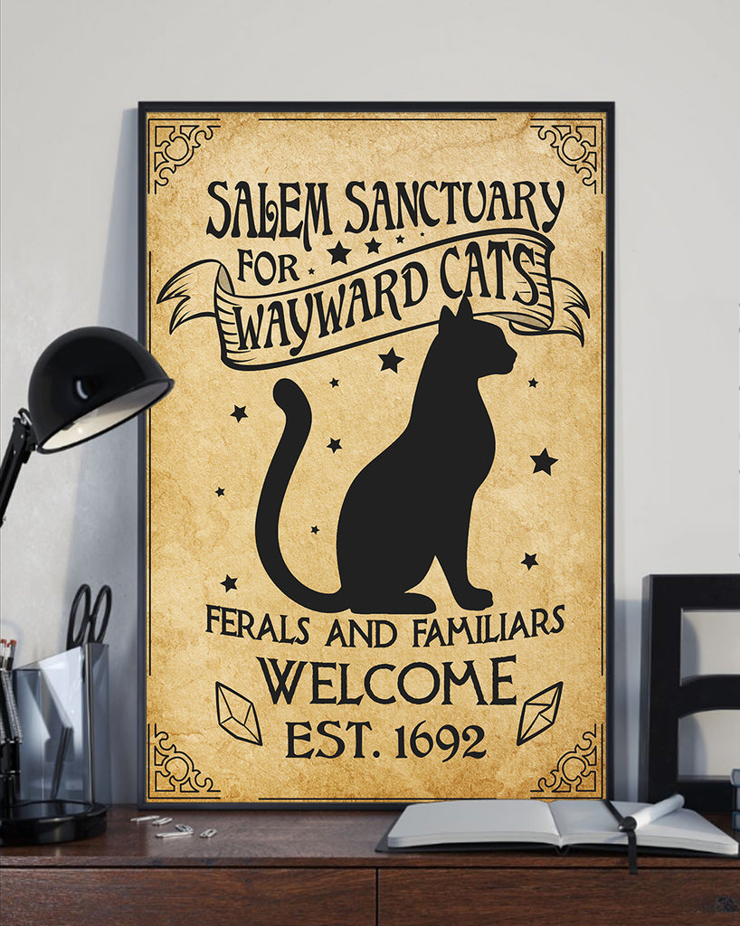 Witch Pagan home decor - wayward cat salem