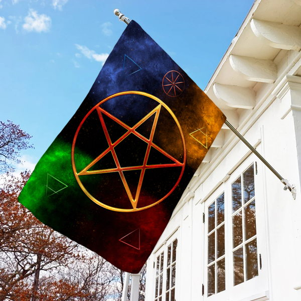 Pentacle Witch Flag