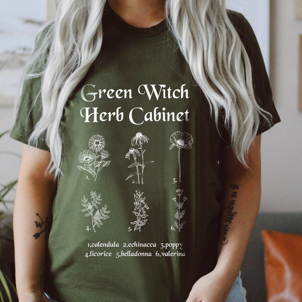 Magical Herb Witch Shirt