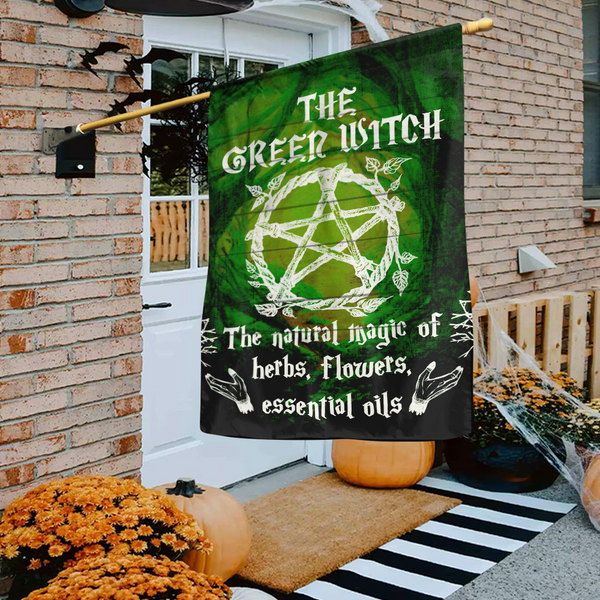 Green Witch Flag