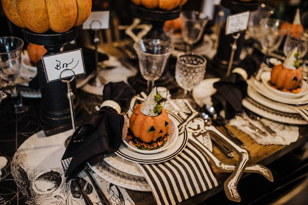 Spooky banquet table
