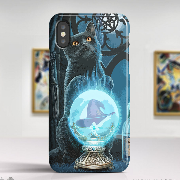 black cat phone case witch