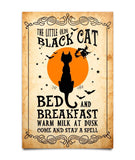 Black Cat Bed Breakfast Poster - Witch Apparel