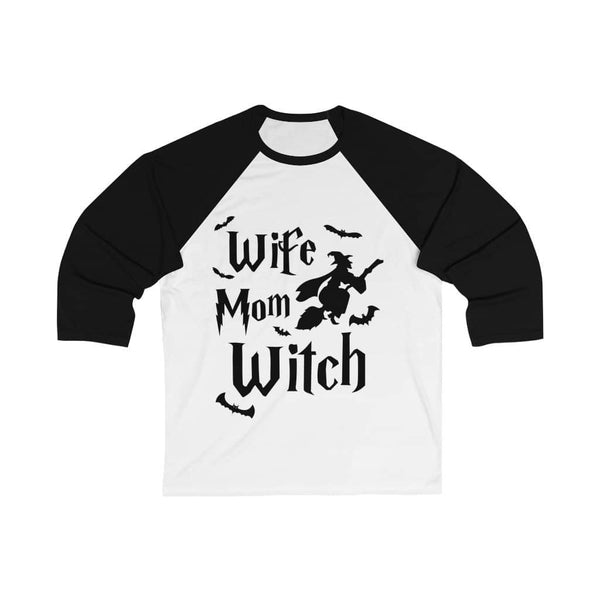 Wife Mom Witch Baseball Tee - Witch Apparel