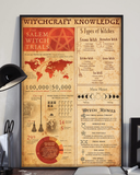 Witch Craft 101: Witchcraft Knowledge Poster - Witch Apparel