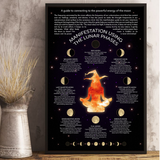 Manifestation Luna Phases Moon Witch Poster - Witch Apparel