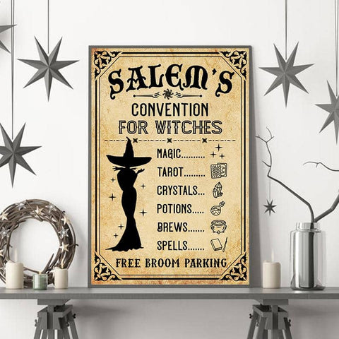 Salem's Convention For Witches Poster - Witch Apparel