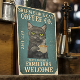 Salem Black Cat Coffee Co Vintage - Witch Apparel