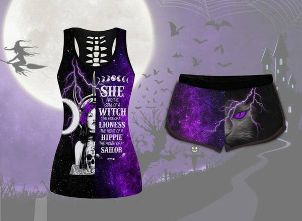 Soul Of A Witch Tank Short Set