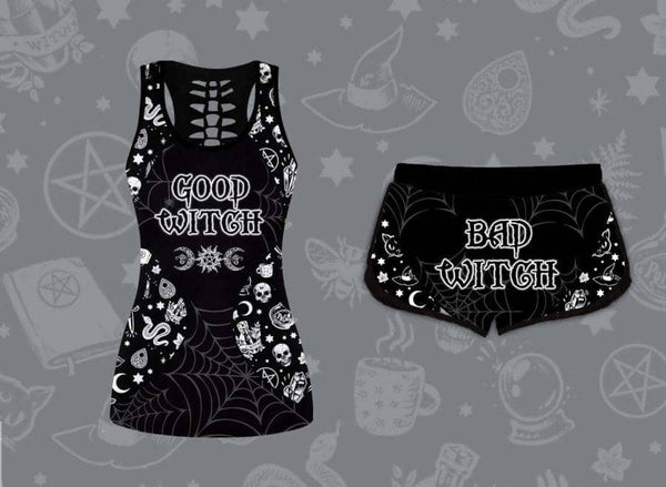 Good Bad Witch Tank Set