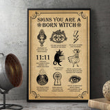 9 Signs You Are A Born Witch Poster