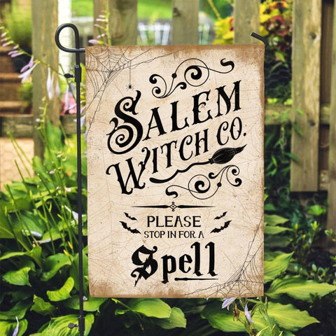 Stop In For A Spell Witch Flag