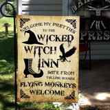 Welcome To The Wicked Witch Inn Flag