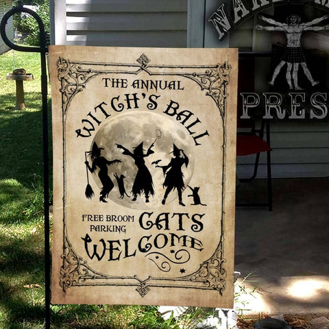 Annual Witch's Ball Flag Custom Flag 24x36