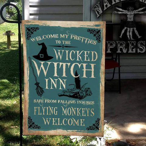 Falling Houses Flying Monkeys Flag Custom Flag 24x36