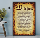 Witches Followers Of The Sun & Moon Poster