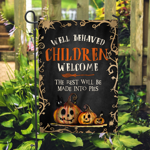 Well Behaved Children Welcome Witch Custom Flag 24x36