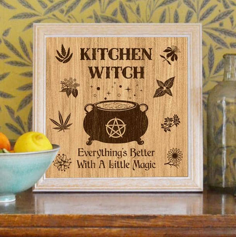 Everything's Better Kitchen Witch Poster