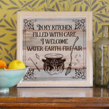 In My Kitchen Witch Poster- Magic Knowledge Wall Decor