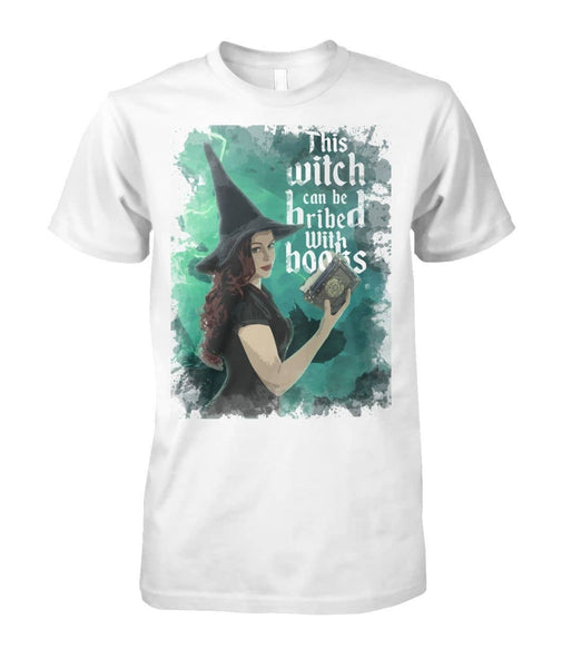 This Witch Can Be Bribed With Books Shirt - Witch Apparel