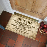 Unique Witchy Home Decor - This House Is Protected Doormat Mat