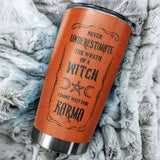 Personalized Not Your Basic Witch Stainless Steel Tumbler