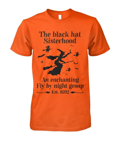 Unisex Women's The Black Hat Sisterhood an Enchanting Fly by Night Group Shirt - Witch Apparel