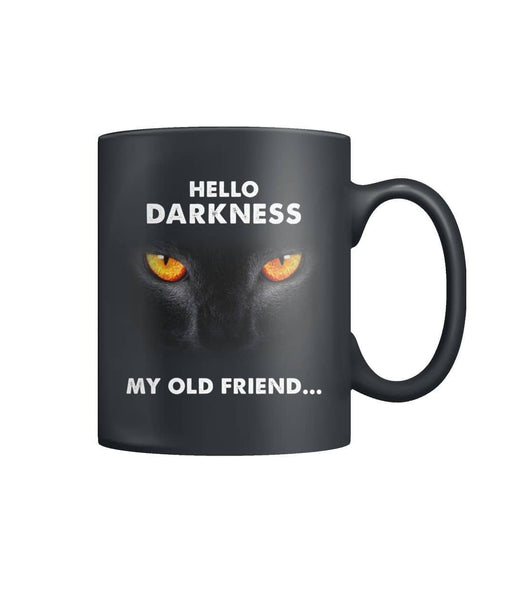 Hello Darkness Black Cat  Color Coffee Mug - Witch Apparel