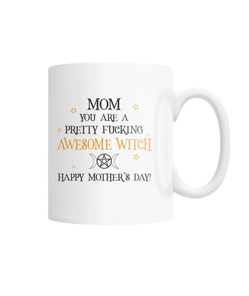 Awesome Witch White Coffee Mug - Witch Apparel