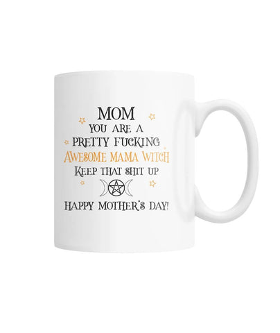 Awesome Mama Witch White Coffee Mug - Witch Apparel