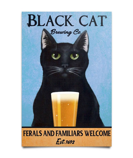 Black Cat Brewing Co Poster - Witch Apparel