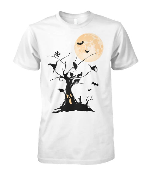 Black Cat Tree Shirt - Witch Apparel