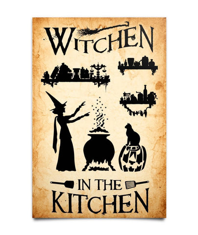Witchen In The Kitchen Poster - Witch Apparel