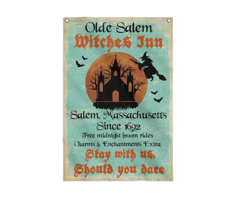 Olde Salem Witches Inn MA 1692  Flag Custom Flag 24x36