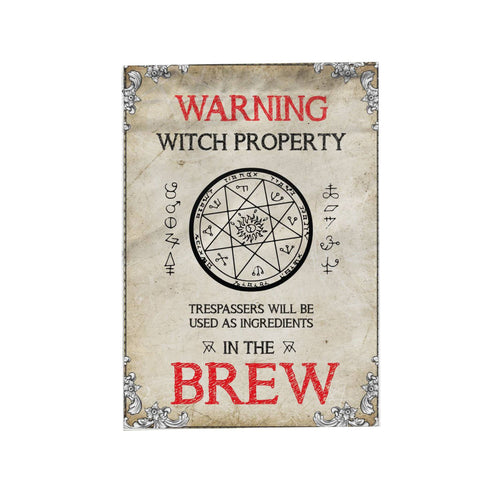 Warning Witch Property Garden Flag