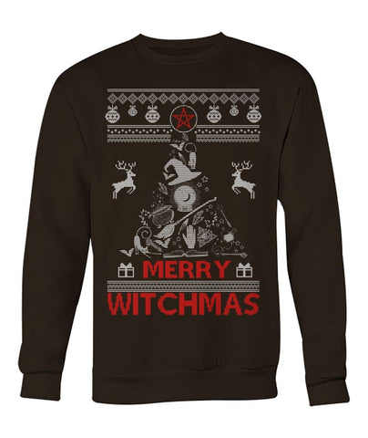 Merry Witchmas Sweatshirt - Witchcraft Christmas Clothing - Witch Apparel