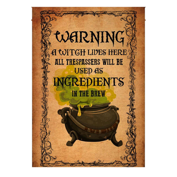 Warning Tresspassers Used As Ingredients Flag