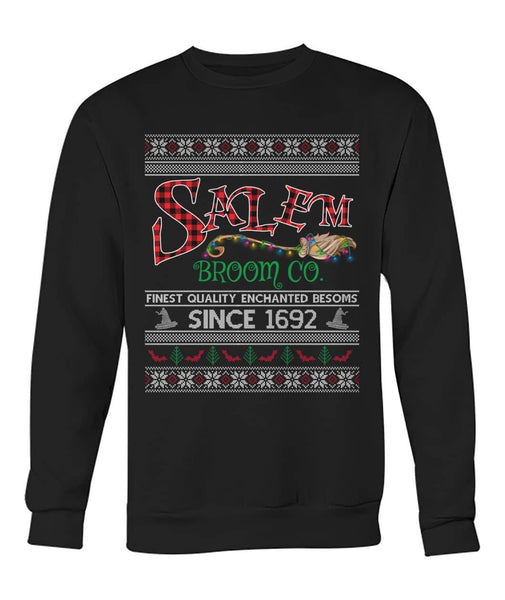 Salem Broom Company Ugly Sweater Shirt - Witch Apparel