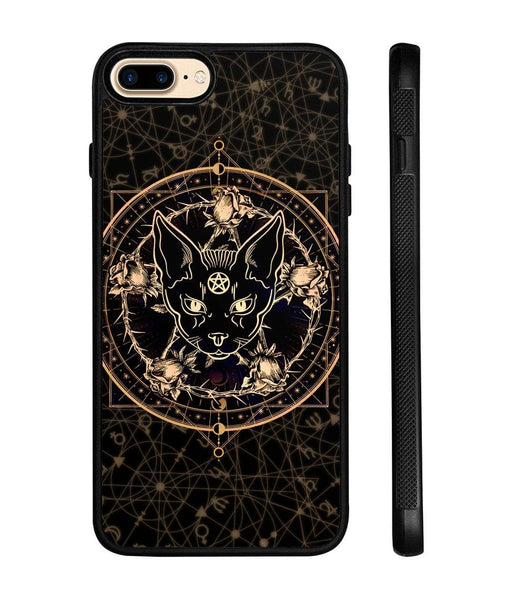 Wicca Black Cat Magical Rose Phone case - Witch Apparel