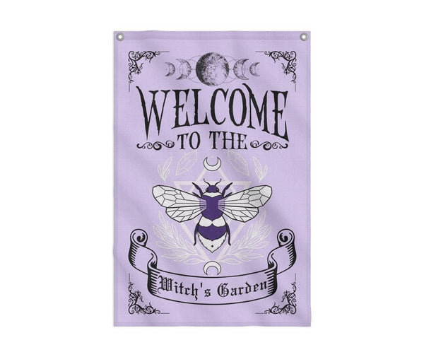 Welcome To The Witch's Garden Flag Custom Flag 24x36