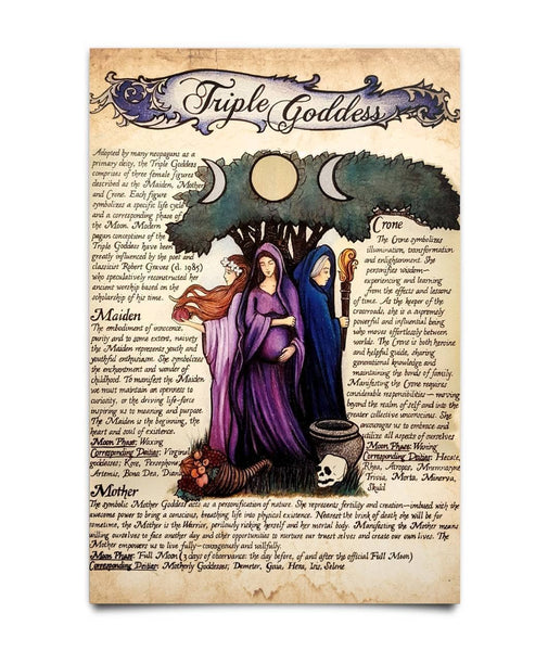 Tripple Moon Goddess Poster - Witch Apparel