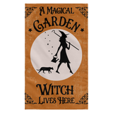 A Magical Garden Witch Flag