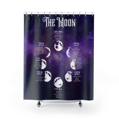 The Moon - Witch Shower Curtains - Witch Apparel