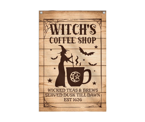 Witch's Coffee Shop Flag Custom Flag 24x36