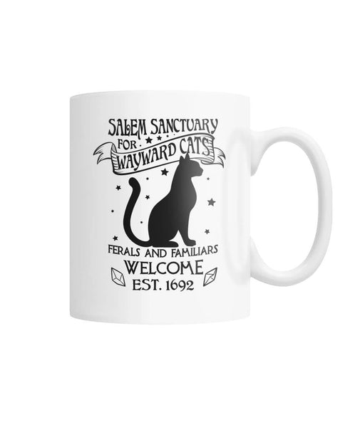 Home For Wayward Cats  White Coffee Mug - Witch Apparel